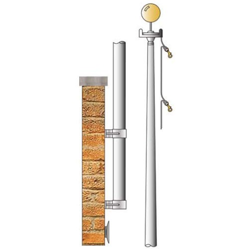 Vertical Wall Mount Flagpole