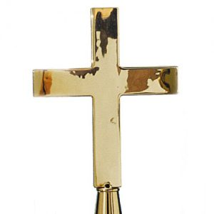 Indoor Flagpole Brass Church Cross