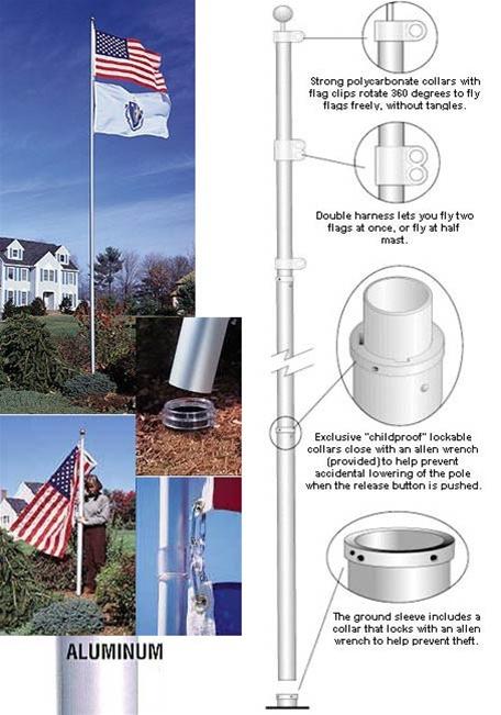 20 Telescoping Flagpole American Flagpole Flag Co
