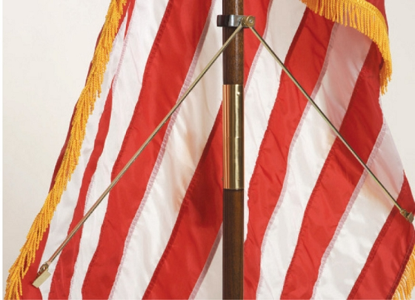 Indoor flag spreader american flagpole flag co for 3 flag pole etiquette