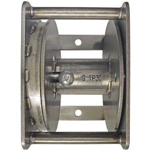Stainless steel flagpole winch