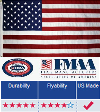 Polyester American Flags 12 X 18 Tough Tex American Flagpole Flag Co