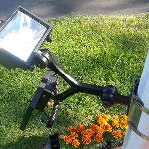 280 LUX Solar Flagpole Light