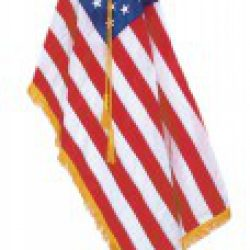 Indoor american flag set with 5 x 8 ft us flag and 12 ft pole for 3 flag pole etiquette