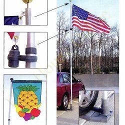 19 Foot Telescoping Flagpole Multi Use Flagpole