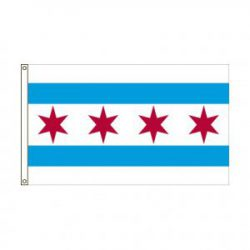 City of Chicago Illinois flag