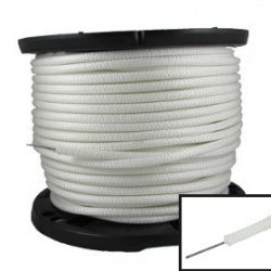 Flagpole rope with wire inside